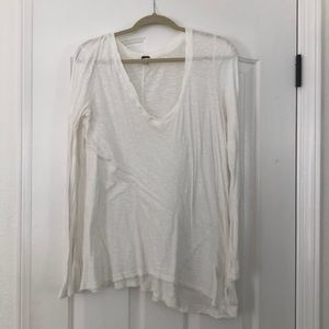 Free People white long sleeve never worn